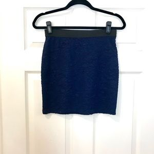 Royal Blue Floral Mini Skirt!